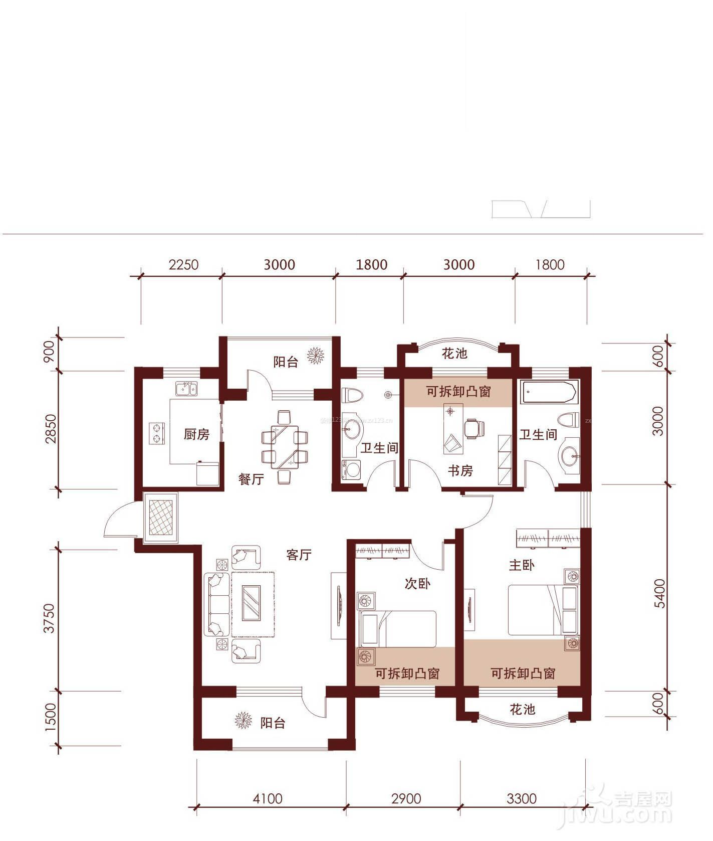 农村花园平房房屋设计图