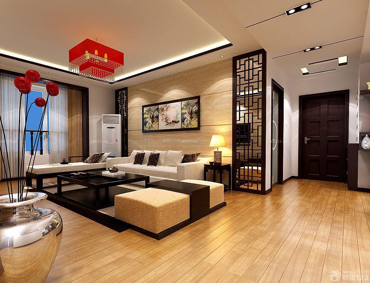 新中式风格橡木地板装修效果图