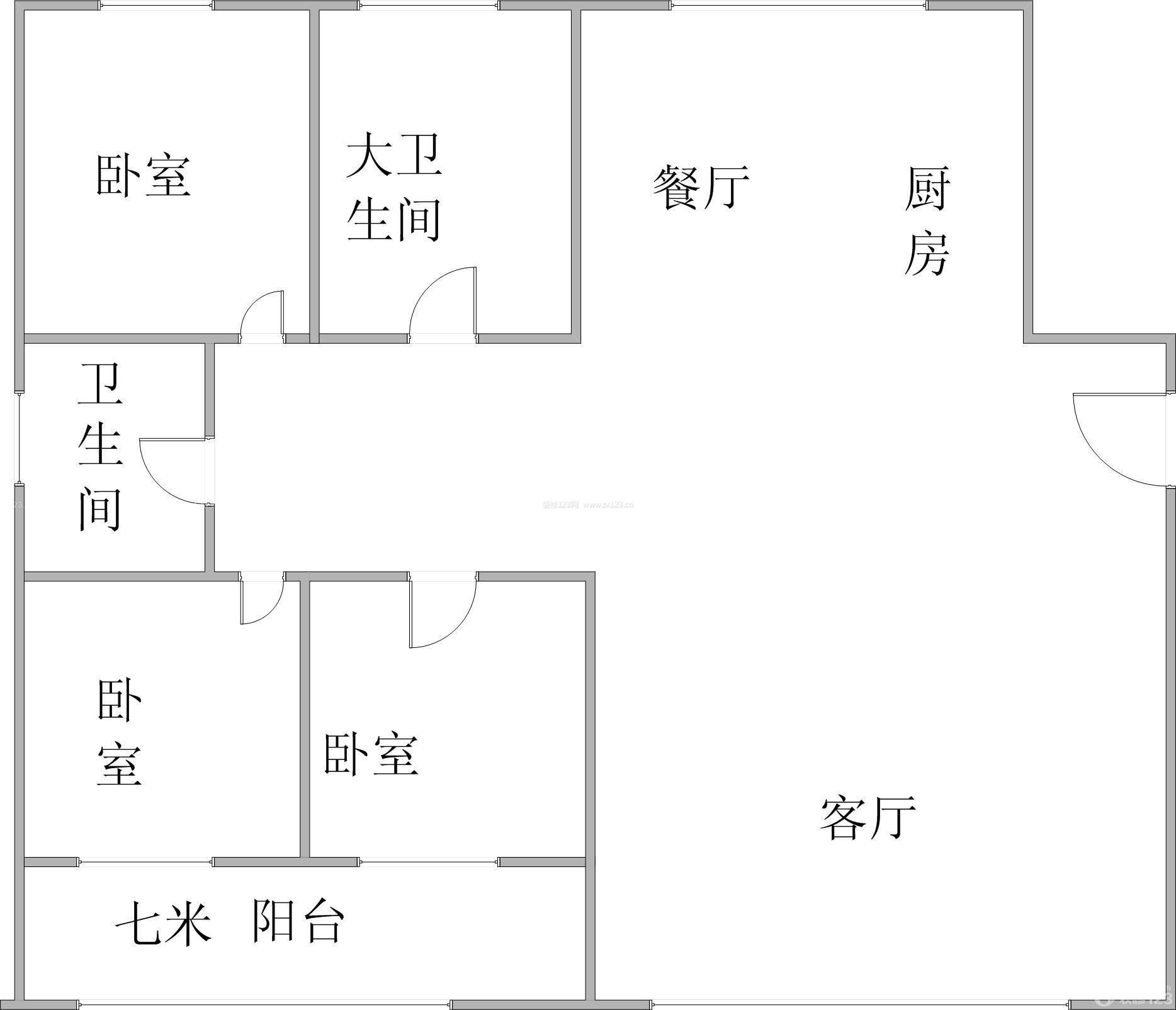 简单农村平房房屋布局设计图