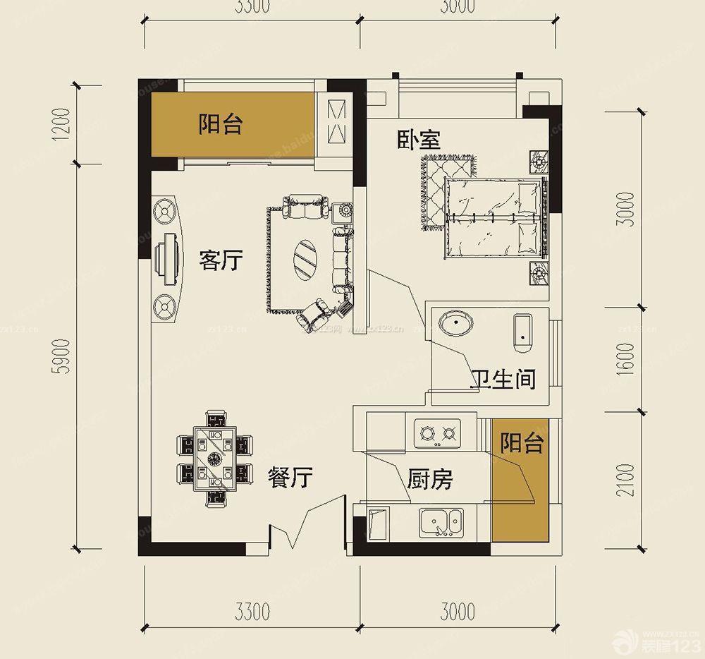 30平米小户型平面图单身公寓设计