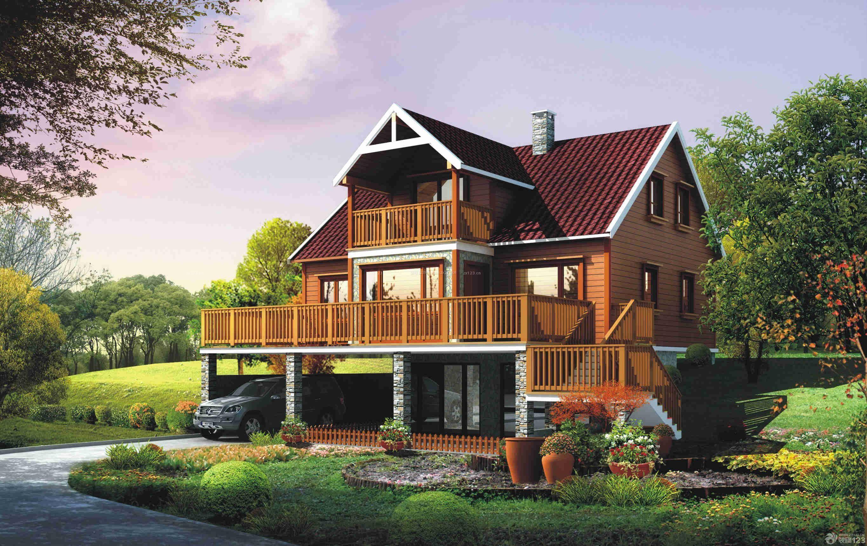 房子美式风格别墅别墅农村效果图外观好的车门是否图片