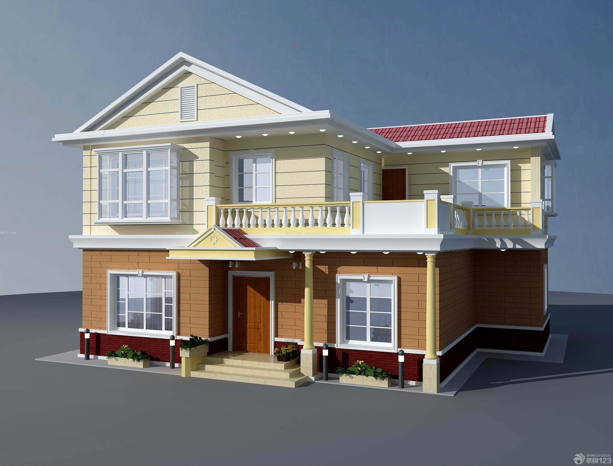 农村自建房别墅正面外观效果图