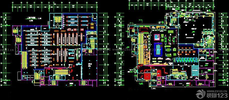 二维多超市设计cad平面图_装修123效果图好士cad证书查询图片