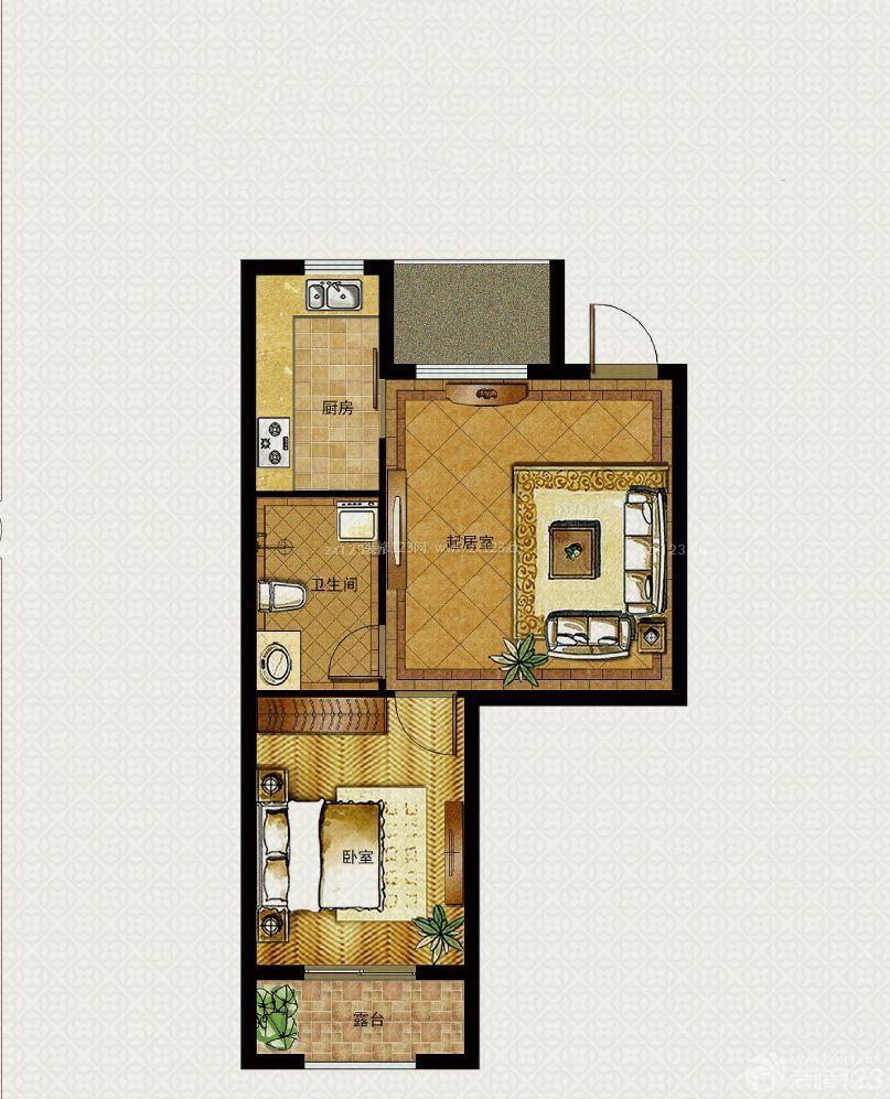 一室30平米小户型平面图设计