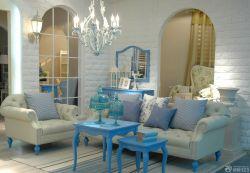 地中海風格小戶型客廳門框裝修設計圖片