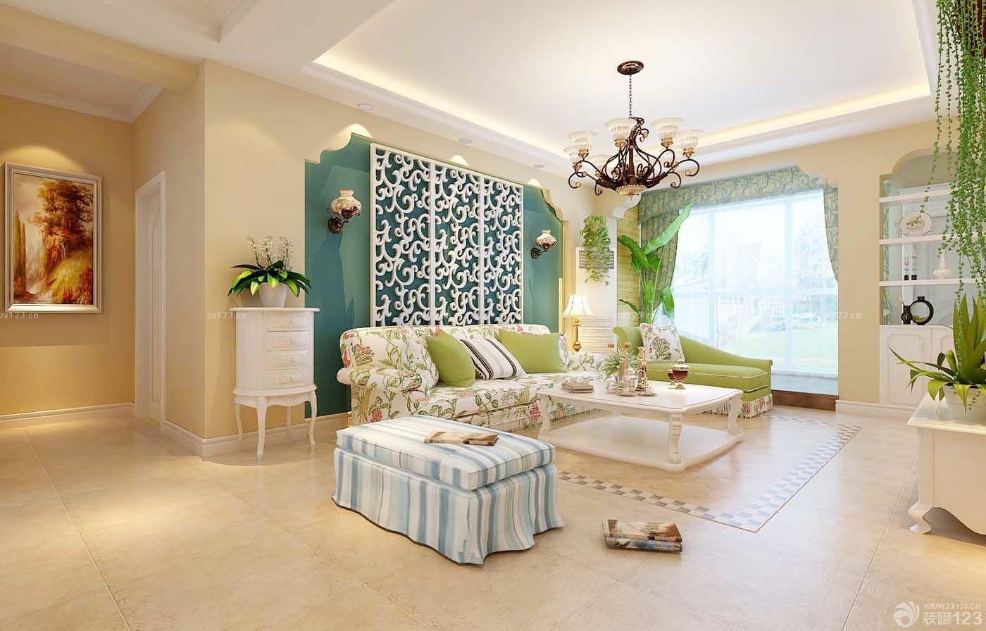 奢华欧式风格三室二厅装修样板房图片欣赏