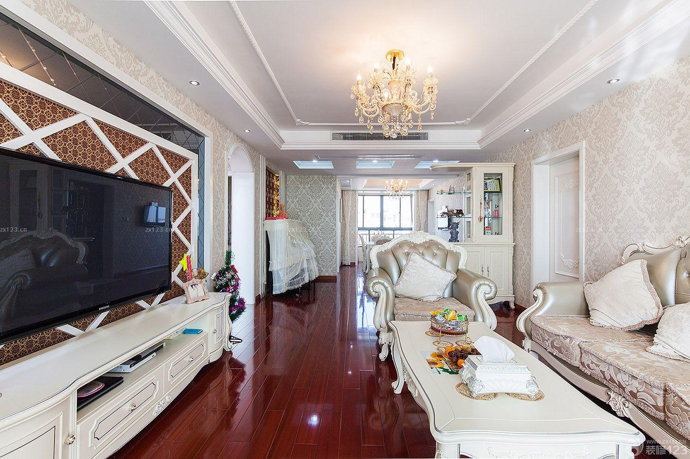 奢华欧式风格三室二厅装修样板房图片欣赏图片