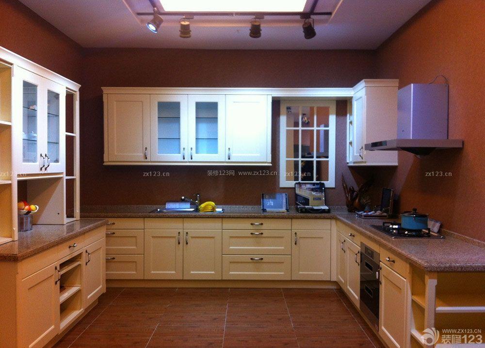 简欧式厨房砖砌橱柜装修图片欣赏