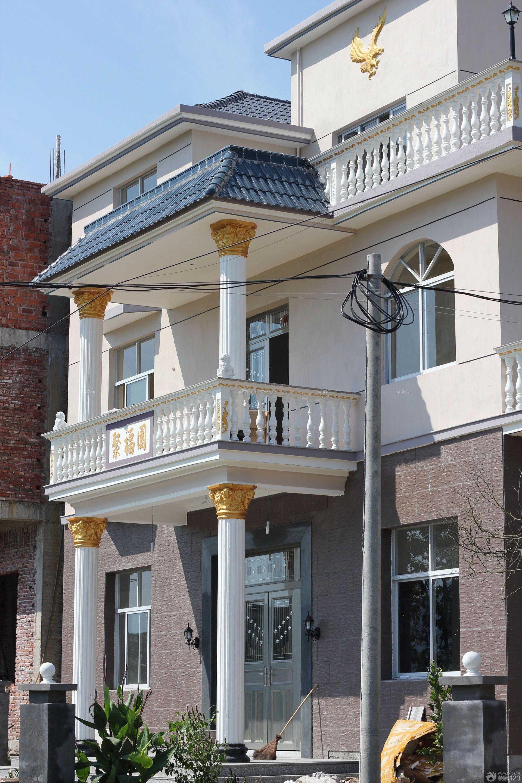外飘窗三层别墅外观图层别墅半轻钢三图片