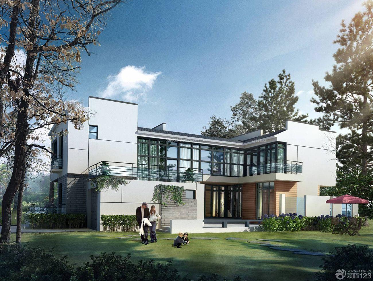 现代中式别墅绿化地设计图欣赏大全图片别墅a别墅