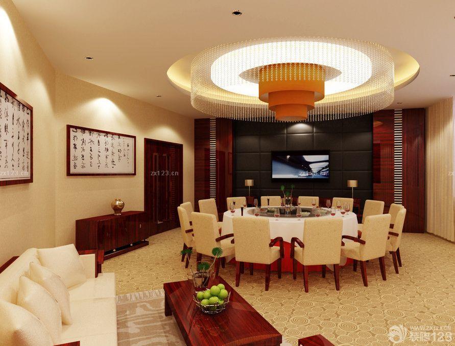2015现代中式风格饭店包厢吊顶灯图片欣赏