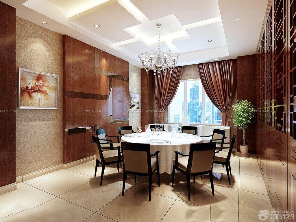 最新中式古典风格饭店包厢装修样板间图片