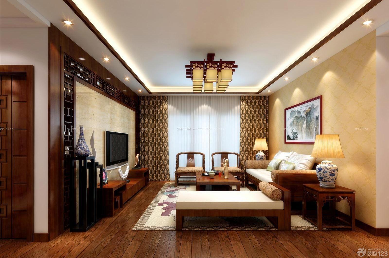 新中式风格40-50平方小户型装修效果图