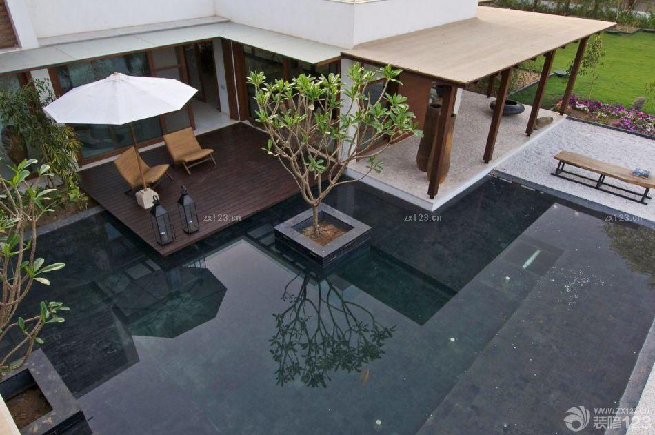 美式乡村风格别墅庭院设计实景图
