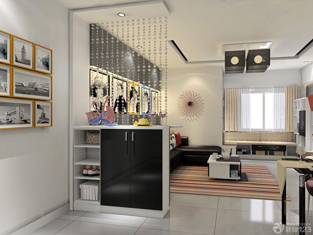 进门左边是餐厅,右边是客厅,鞋柜该怎么放置图片