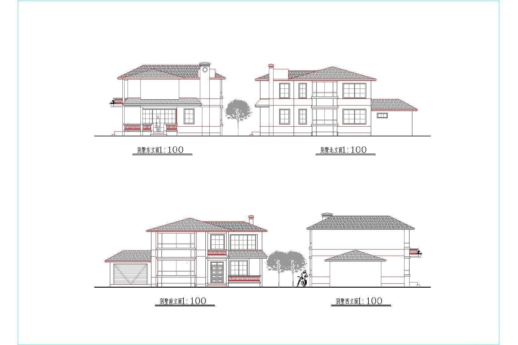 别墅建筑立面图