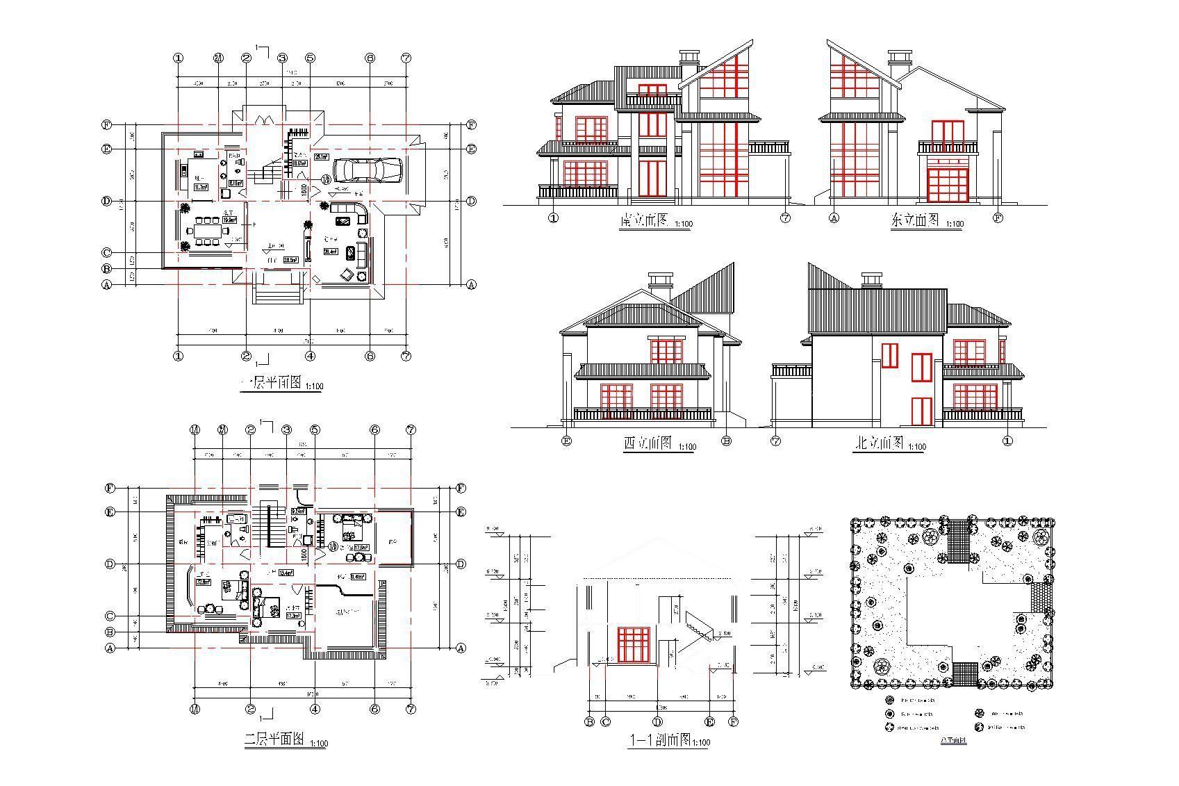 小户型自建房建筑立面图