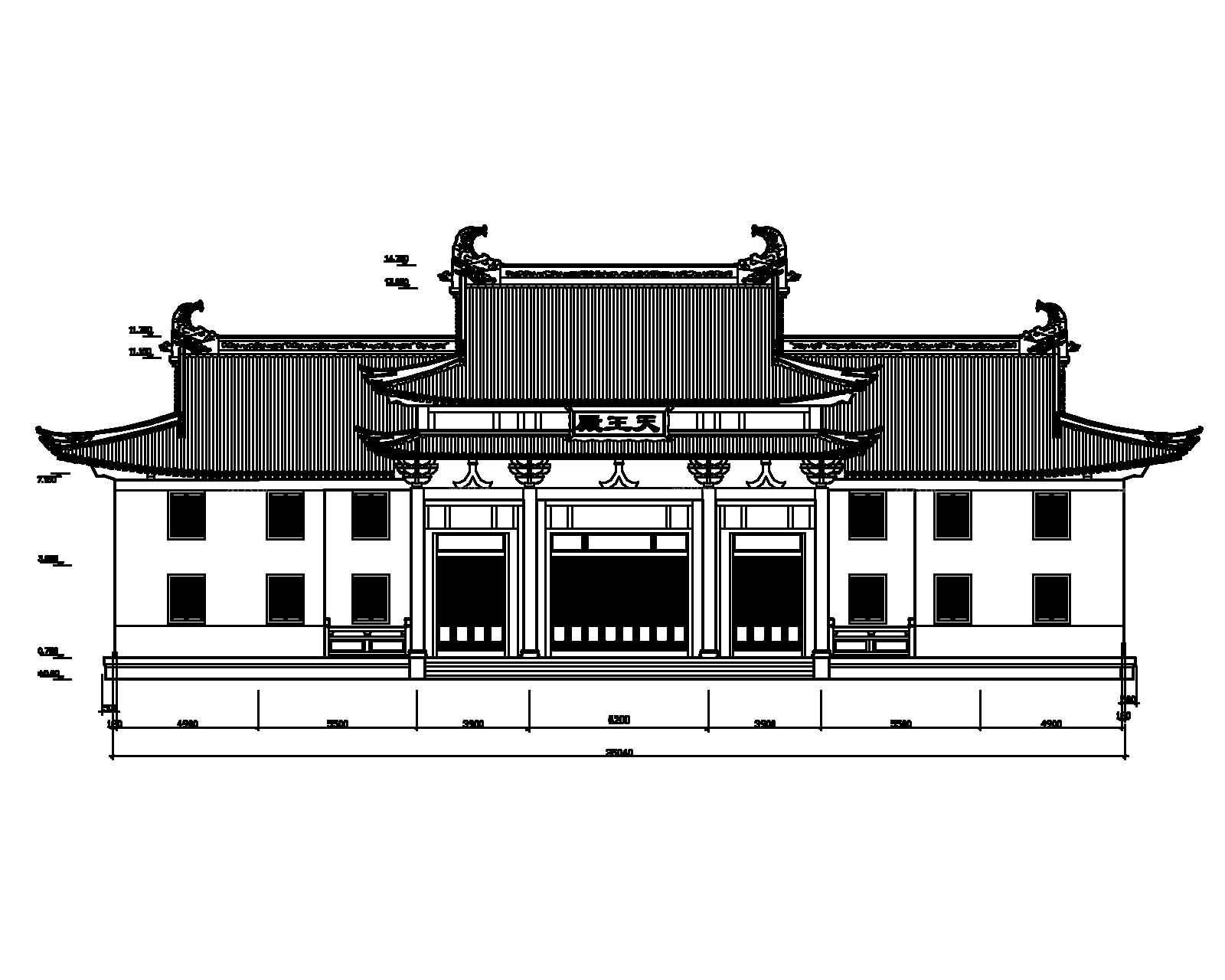 古建筑立面图设计