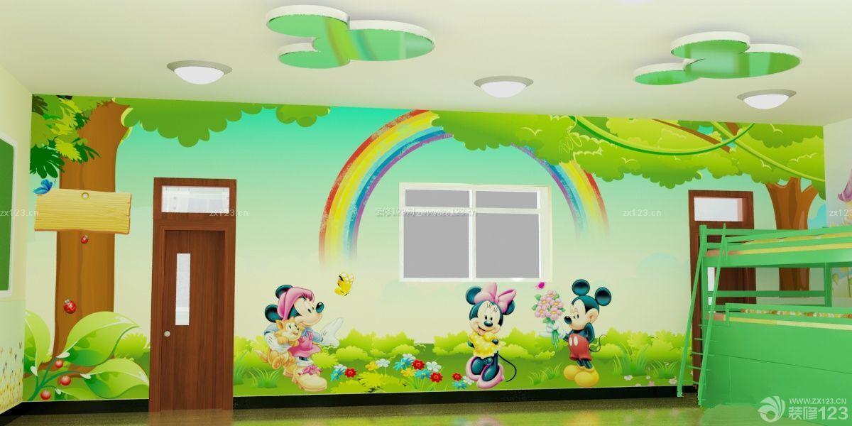 最新幼儿园寝室墙体彩绘设计效果图
