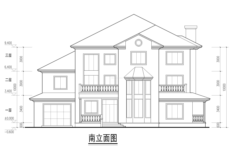 二层别墅建筑立面图
