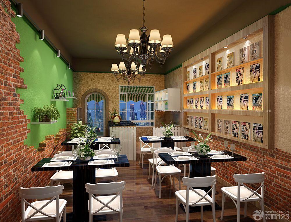 创意美式40平奶茶店装修样板房_装修123效果图图片