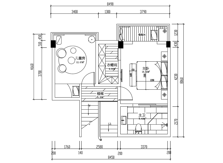 一室户房子设计平面图