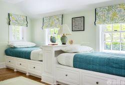 簡歐風格10平米兒童房榻榻米床設計圖片
