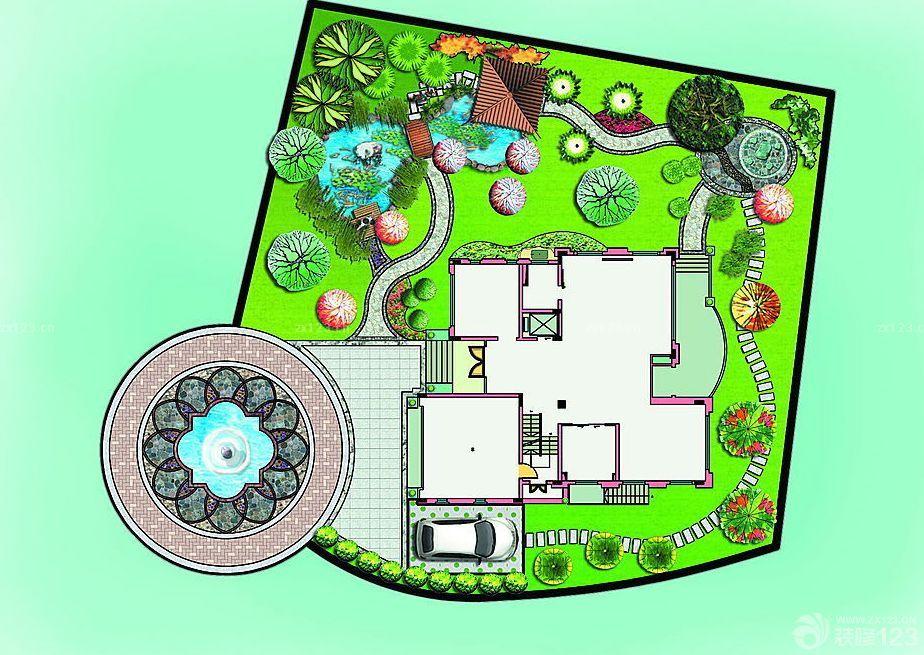 校区花坛设计图平面图展示图片