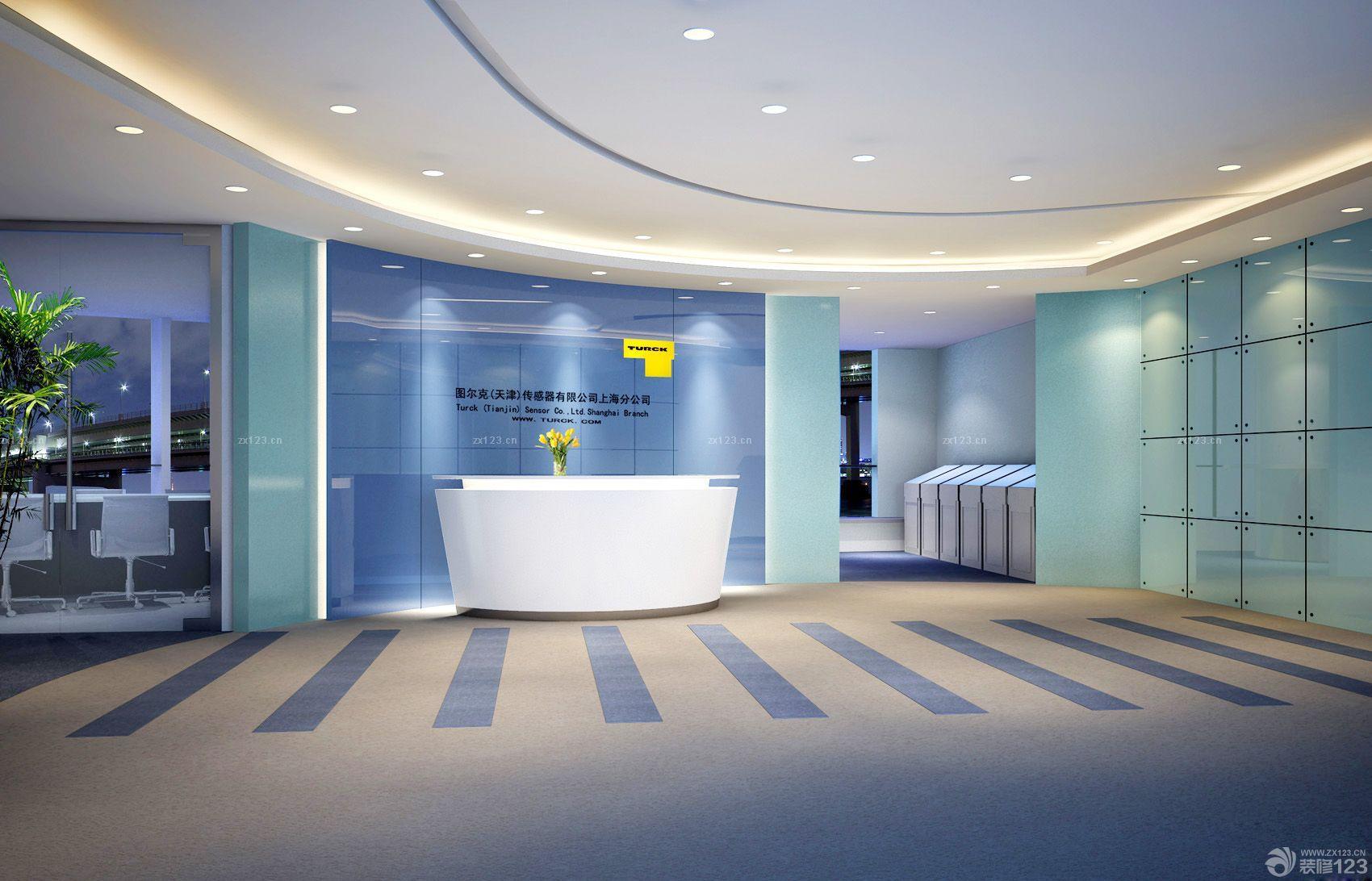 中式风格公司前台背景墙效果图