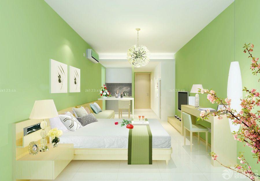 家装效果图 墙面 50平米小户型绿色墙面装修效果图 提供者:   ←