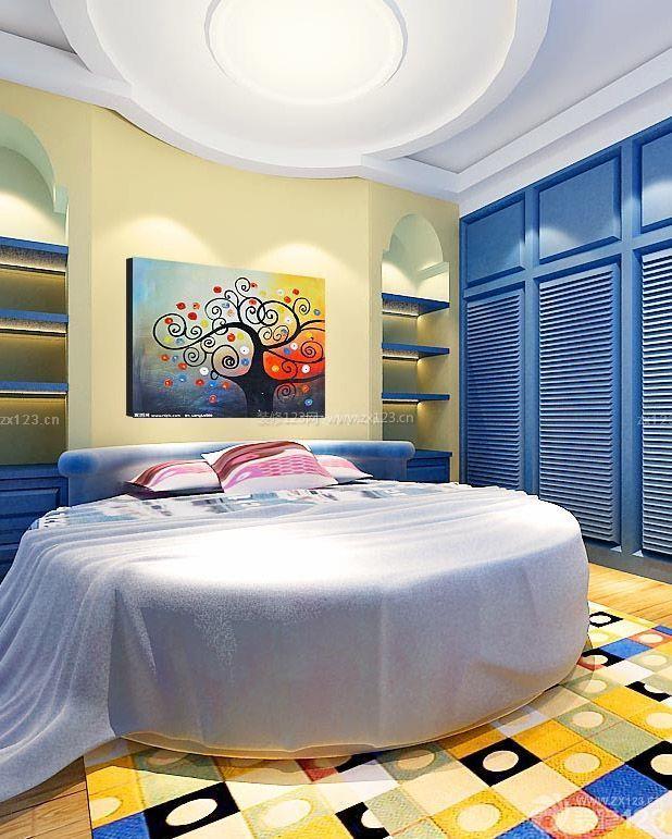 儿童卧室地中海地毯贴图设计图欣赏