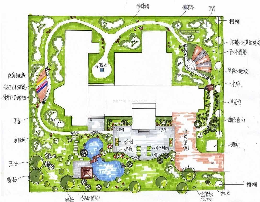 2015小型公园花坛平面图设计