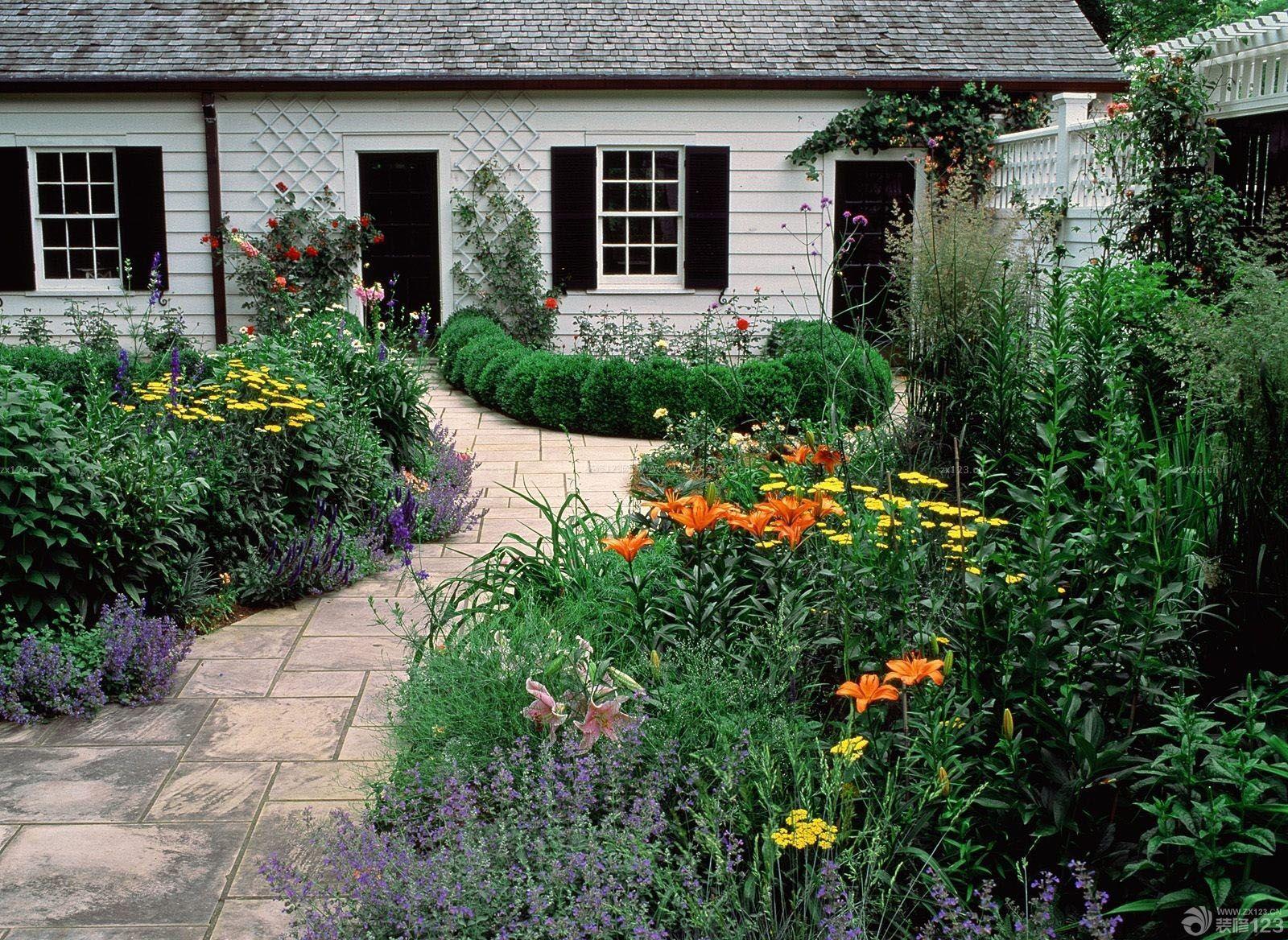 北方农村房屋庭院景观设计效果图图片