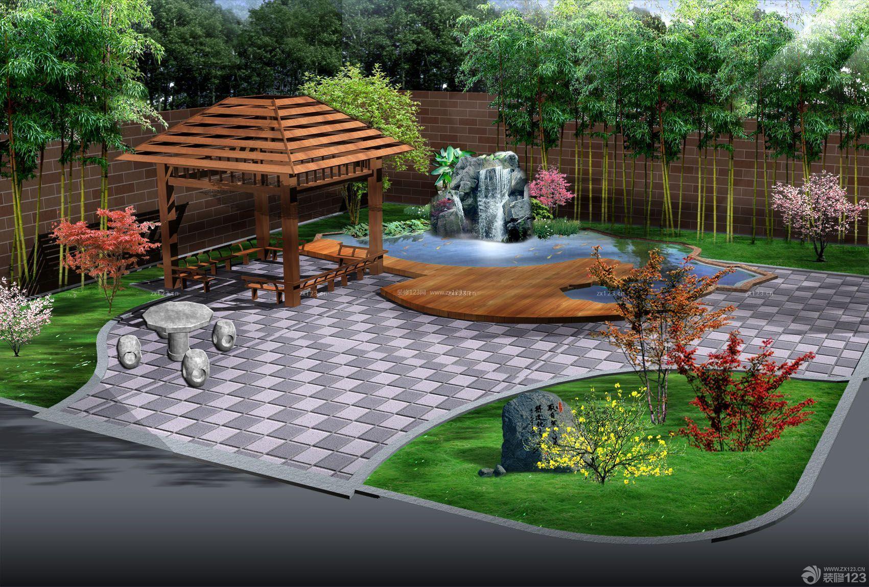 家庭庭院假山设计图展示_设计图分享