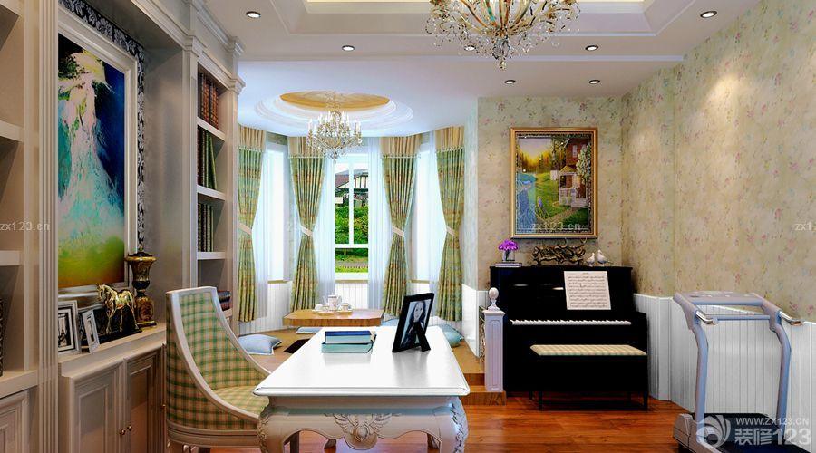 欧式家装书房琴房一体装修效果图