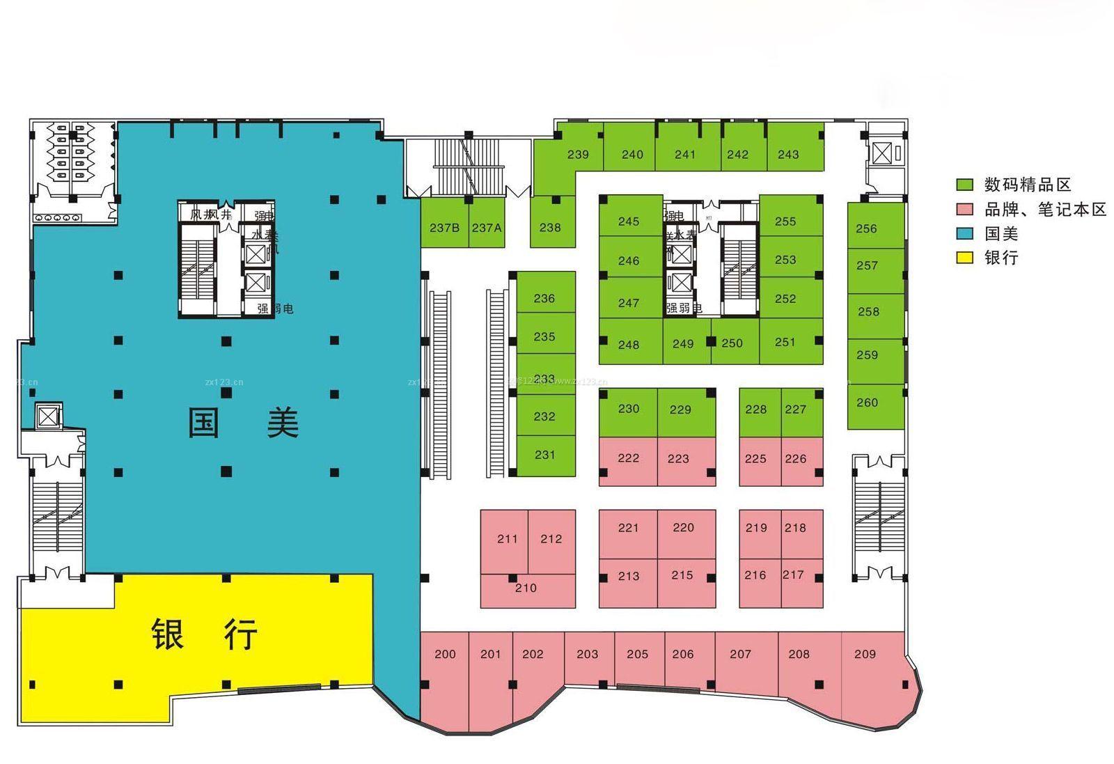 电器商场平面图设计