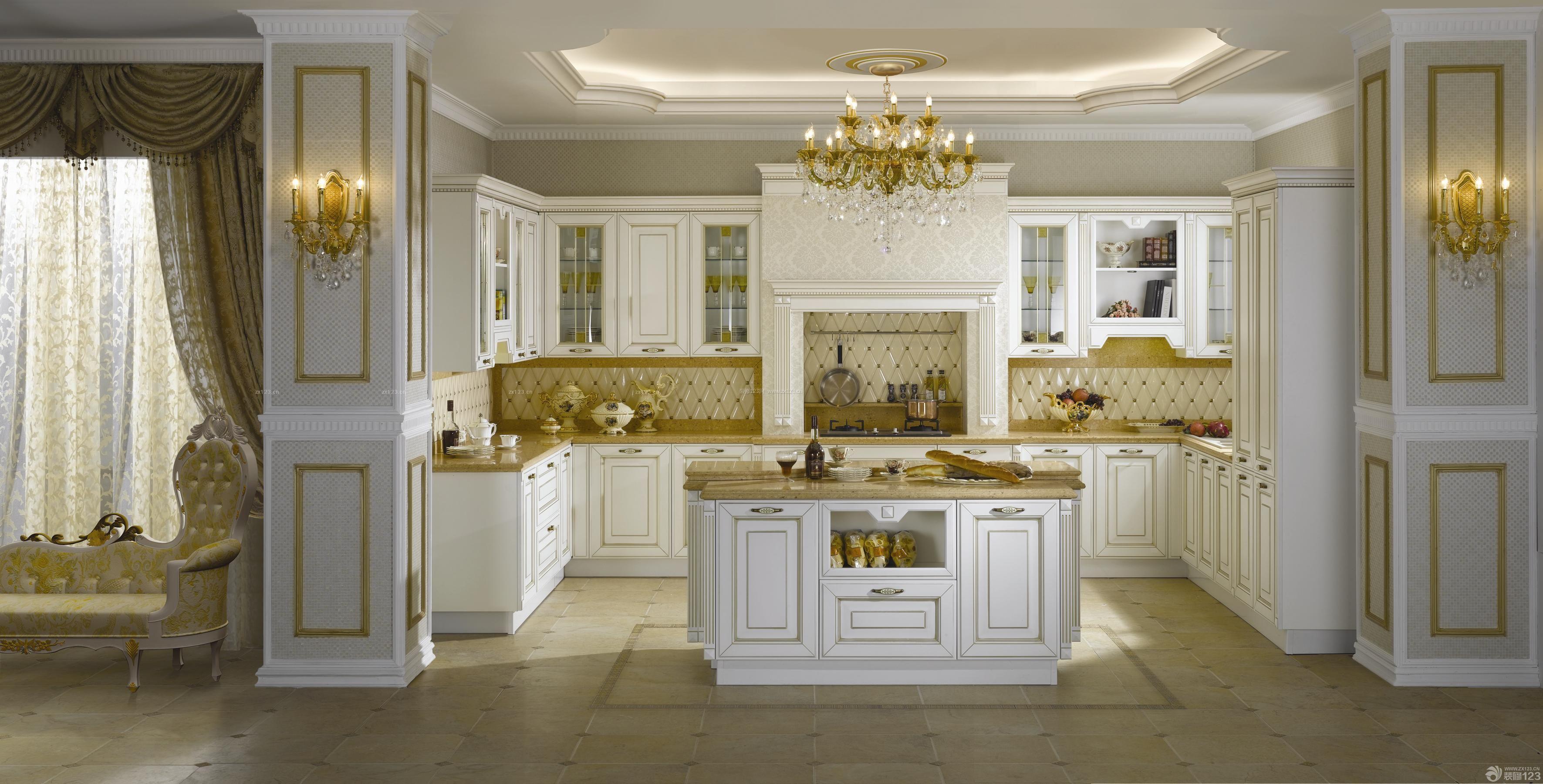 美式风格房子厨房金牌橱柜装修效果图