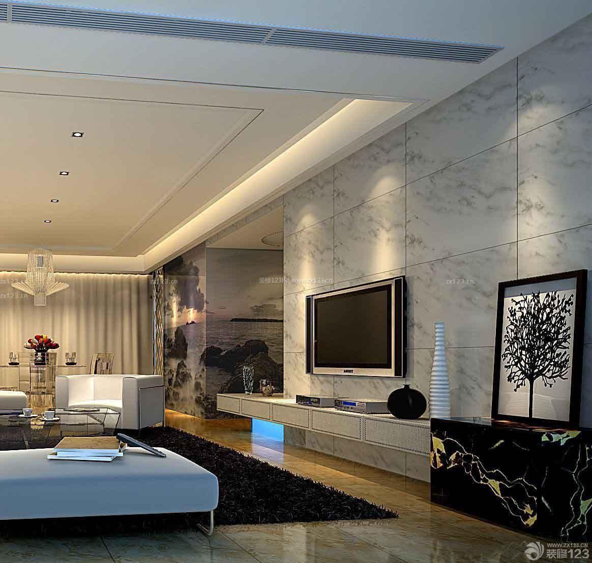 室内东鹏瓷砖电视背景墙装修效果图