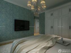 現代臥室白色踢腳線設計圖