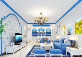 客厅墙壁装饰 地中海风格