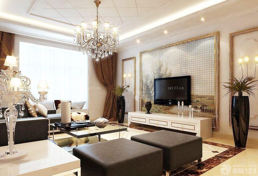 現代家裝電視背景墻馬賽克瓷磚貼圖