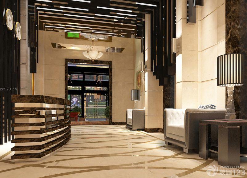 宾馆大堂石材墙面装修效果图