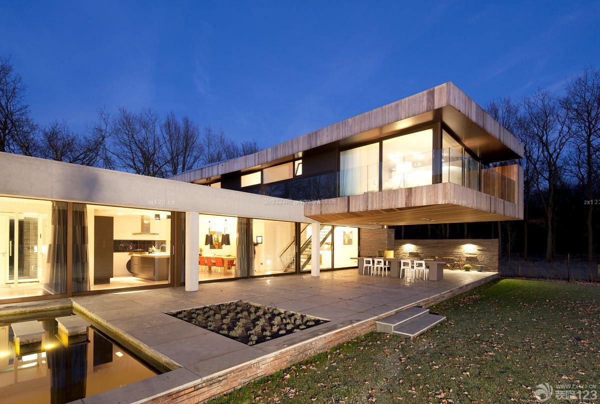 中式风格 二层别墅外观设计图片_装修123效果图