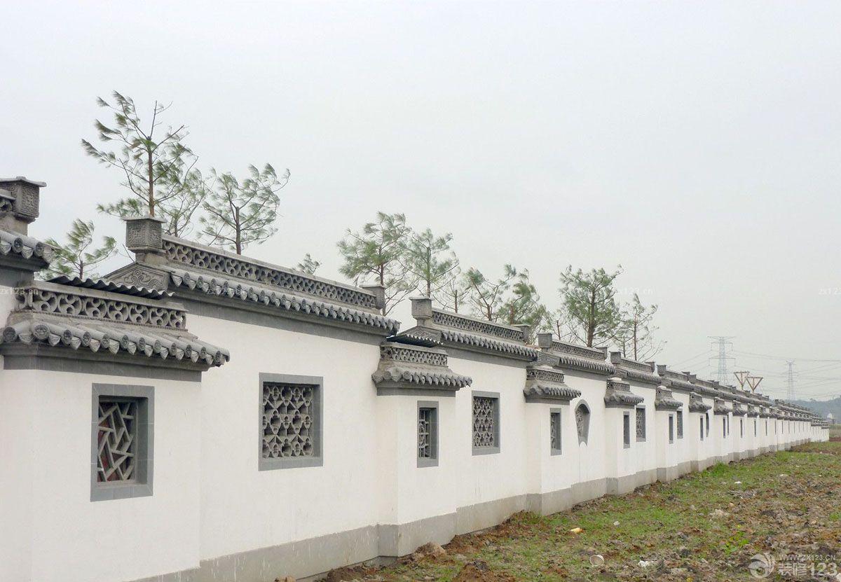 别墅庭院围墙设计效果图欣赏
