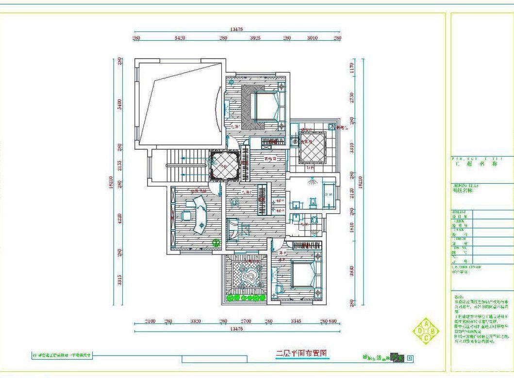 农村二层小别墅平面户型图-别墅平面图
