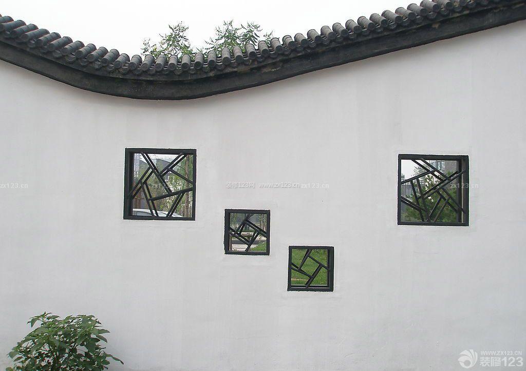 最新别墅庭院围墙设计图图片