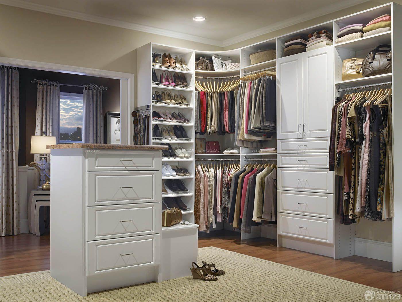 实用简欧衣帽间整体衣柜设计图片