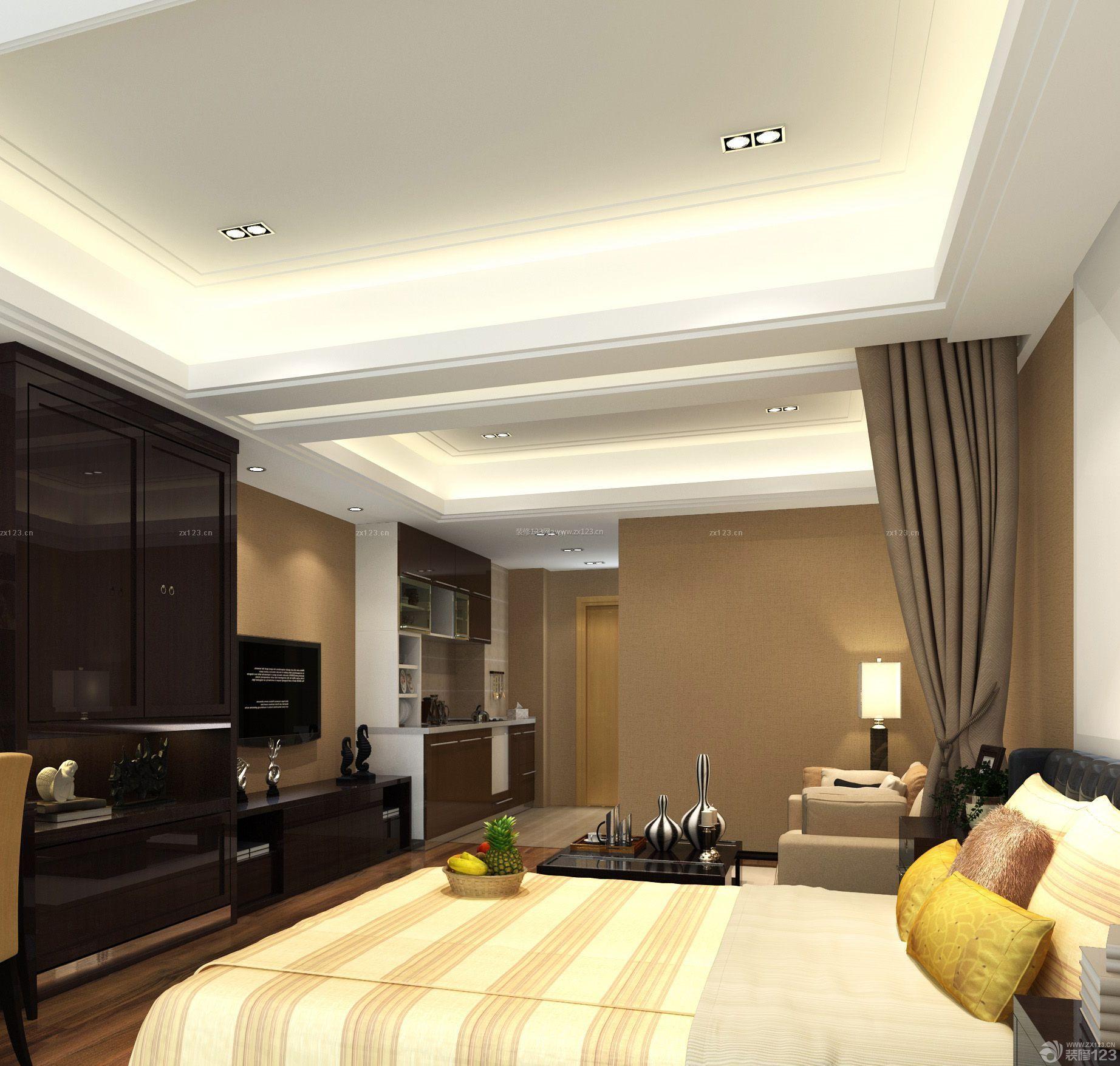 古典主义风格卧室吊顶造型效果图欣赏图片