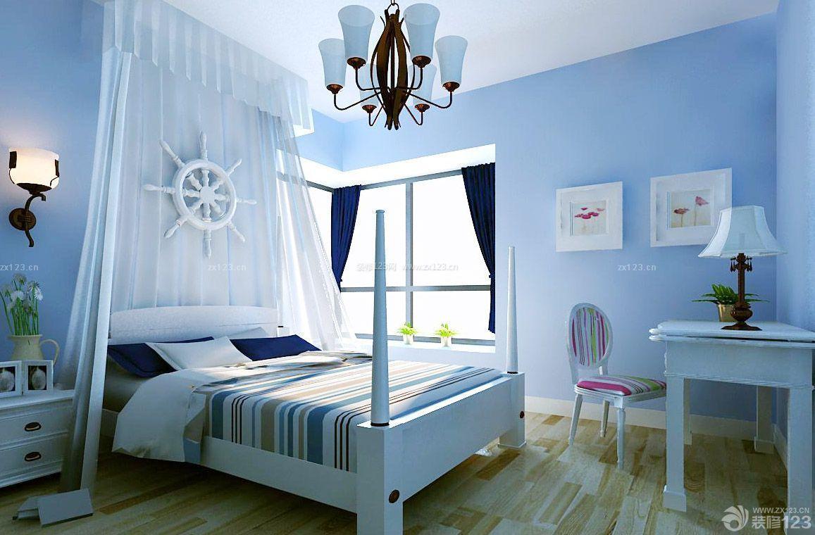 地中海风格70平小房子卧室装修效果图图片