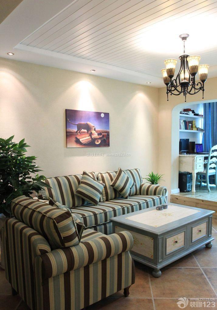 地中海风格70平小房子客厅装修效果图